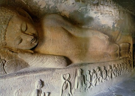 Ajanta caves in Northern India