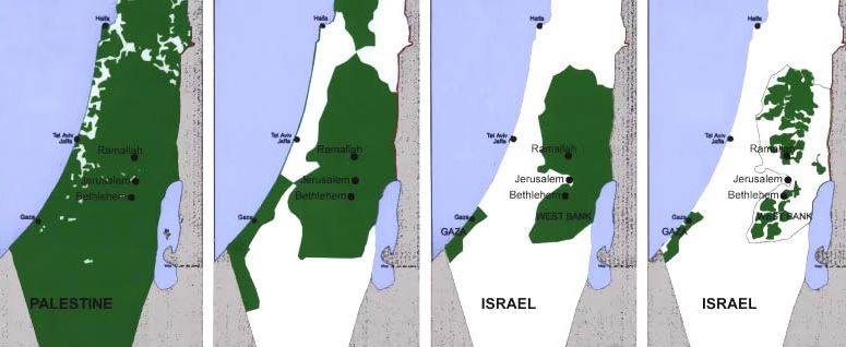 2010 map of Palestine