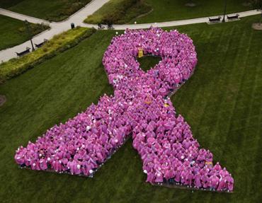 Human pink ribbon 2005