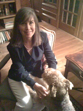Karen Paul Holmes with dog
